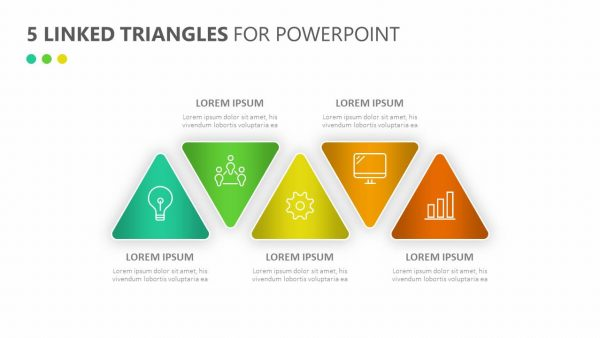 5 Linked Triangles for PowerPoint