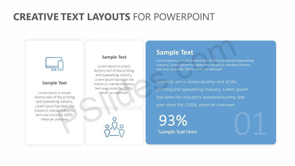 Free Creative Text Layouts for PowerPoint