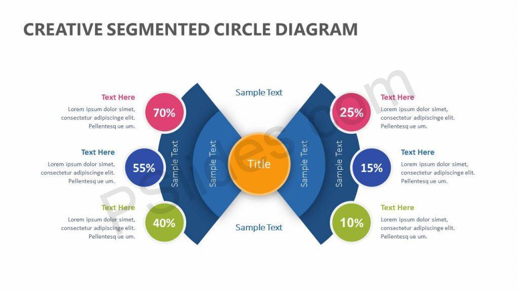 Creative Segmented Circle Diagram