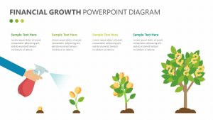 Financial Growth PowerPoint Diagram
