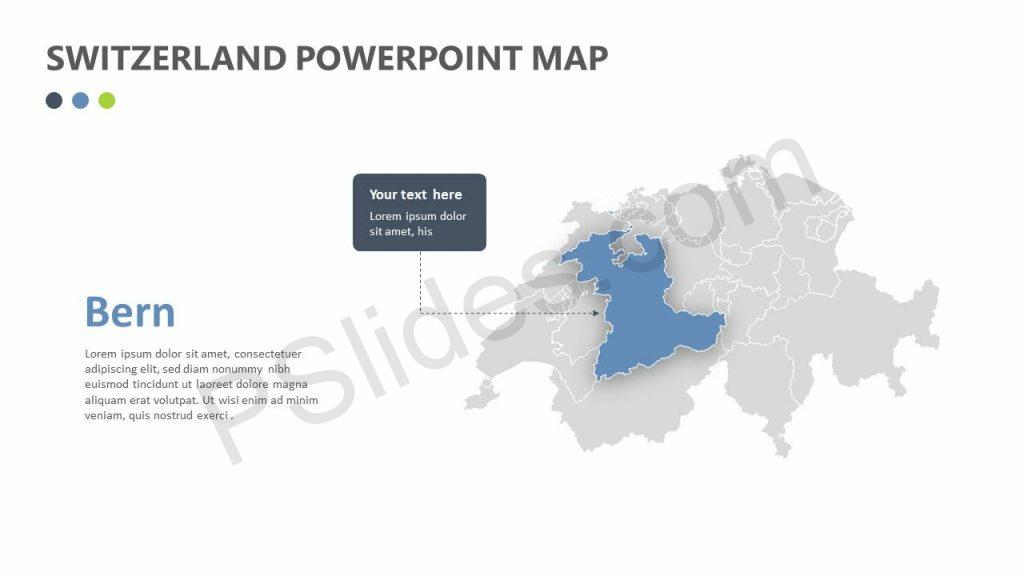 Switzerland PowerPoint Map