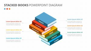 Stacked Books PowerPoint Diagram
