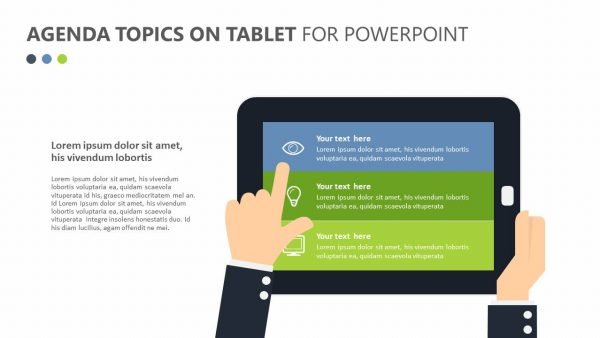 Agenda Topics on Tablet for PowerPoint