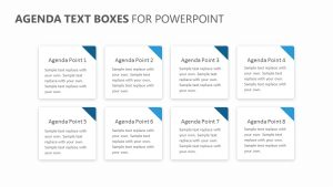 Agenda Text Boxes for PowerPoint
